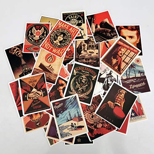 Vintage Stickers 68pcs Sticker Pack Vinyl Waterproof Stickers and Decals for Water Bottles Laptop product image