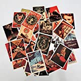 Vintage Stickers, 68pcs Sticker Pack Vinyl Waterproof Stickers and Decals for Water Bottles, Laptop, Cars, Phone Case, Guitar, Luggages, Scrapbook