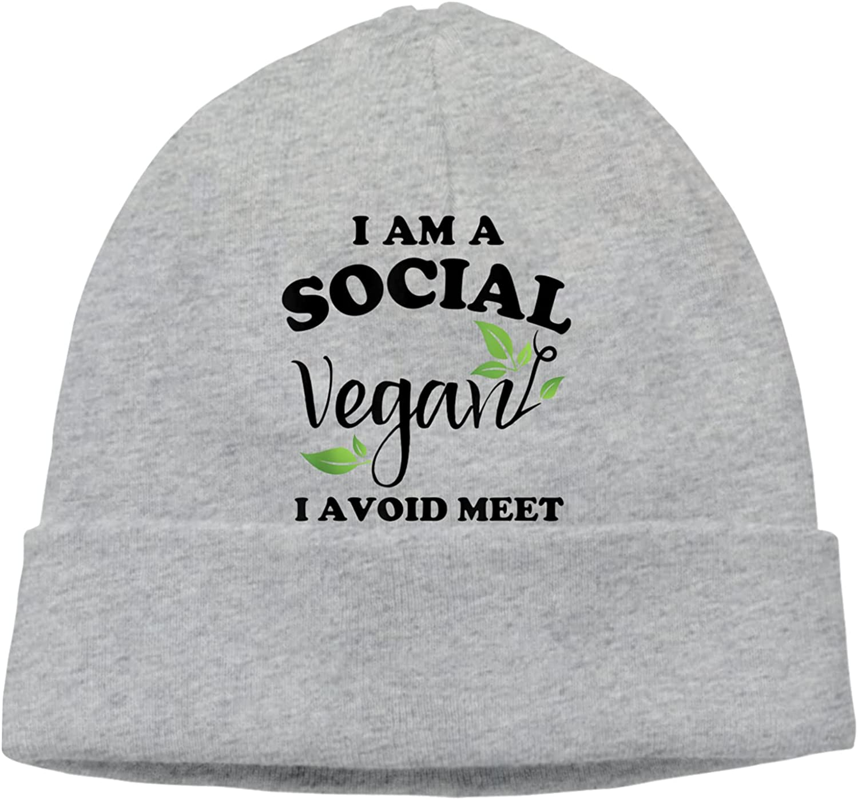 Ranking TOP20 Social Vegan I [Alternative dealer] Avoid Meet6 Slogan Vi Warm Unisex Hats Beanie Cap