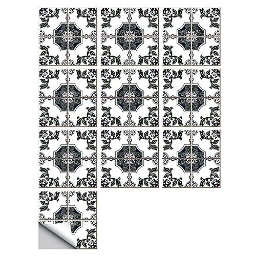 Fawyhr Azulejos etiqueta de pared marroquí estilo azulejos duros etiqueta de pared cocina cocina escaleras decoración impermeable aceite a prueba de aceite vinilo papel tapiz Hermosa Casa
