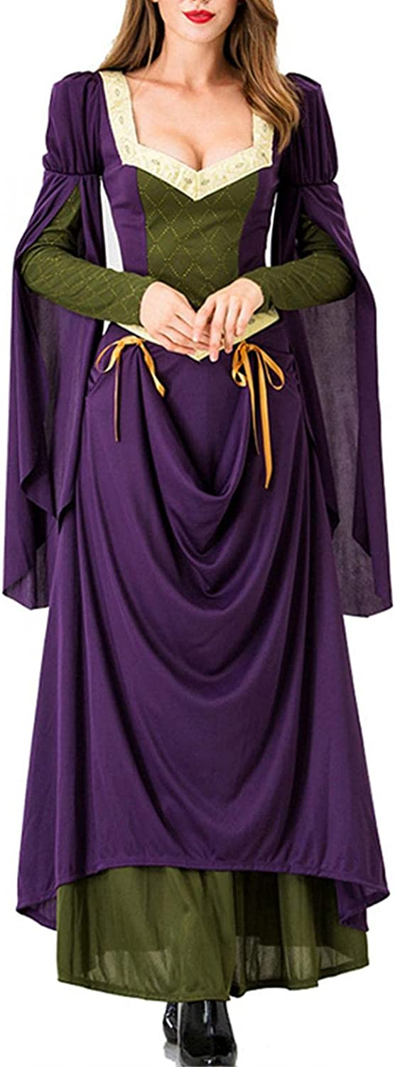 Womens New York Mall Halloween Costumes Victorian Medieval Dress Factory outlet Witch Renaiss