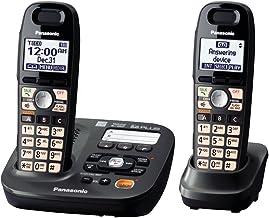 تلفن بی سیم Panasonic KX-TG6592T 2-تلفن ، تیتانیوم سیاه