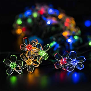 GIGALUMI 2 Pack Solar Strings Lights, 23 Feet 50 LED Flower Solar Fairy Lights, Garden Lights for Outdoor, Home, Lawn, Wed...