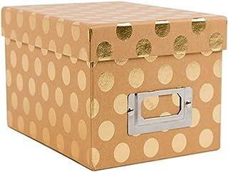 DCWVE Die Cuts with A View Mini Box-Polka Dots On Kraft SY-047-00106