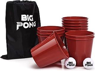 Original Big Pong   12 Seaux Géants   2 Balles   1 Sac   Qualité Premium   Jeu d'Extérieur   Outdoor   Jardin   Plage   Ét...