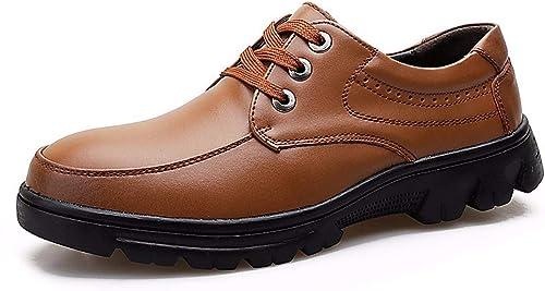 KMJBS-Business décontracté Chaussures pour Homme Big Taille Chaussures Fond épais Big Têtes. Noir Quarante
