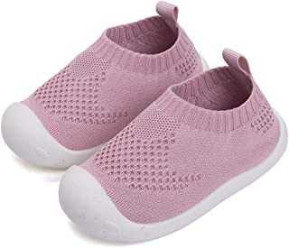 Plzensen Baby's Boy's Girl's First-Walking Shoes 1-4 Years Kid Trainers Shoes Toddler Infant Slip-on Sneakers