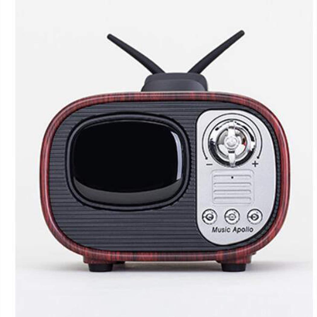 MALPYQ Altavoz Bluetooth inalámbrico portátil, Creativa Retro imitación TV pequeño Audio Regalo Audio,Walnutcolor: Amazon.es: Hogar