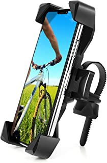 AONKEY One-Touch Release Bike Phone Mount, 360� Rotatable Bicycle & Motorcycle Handlebar Cell Phone Holder Universal for All Smartphones Include iPhone 11 Pro Xs Max XR X 7 8 Plus, Galaxy S10 Note 10