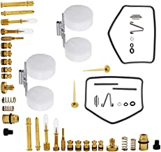Autoparts Carburetor Carb Repair Rebuild Kit for 1970-1973 Honda CB350 CL350 Jets Gaskets with Floats -Set of 2
