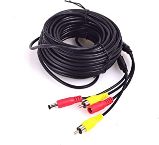 Car RCA DC Audio Video AV Extension Cable for CCTV Security, Car Truck Bus Trailer Reverse Parking Camera (10 Meters/32 Fe...