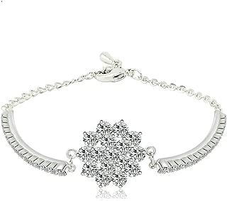 Daesar Gold Plated Bracelets Womens Charm Bracelet Flower White CZ Bracelet Adjustable Bracelet for Women
