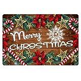 Coloranimal Home Garden Feliz rbol de Navidad Floral Star Impreso Zapatos Raspador Antideslizante, Parte trasera de goma Interior Exterior Estera de la puerta para Patio reas de Alto Trfico