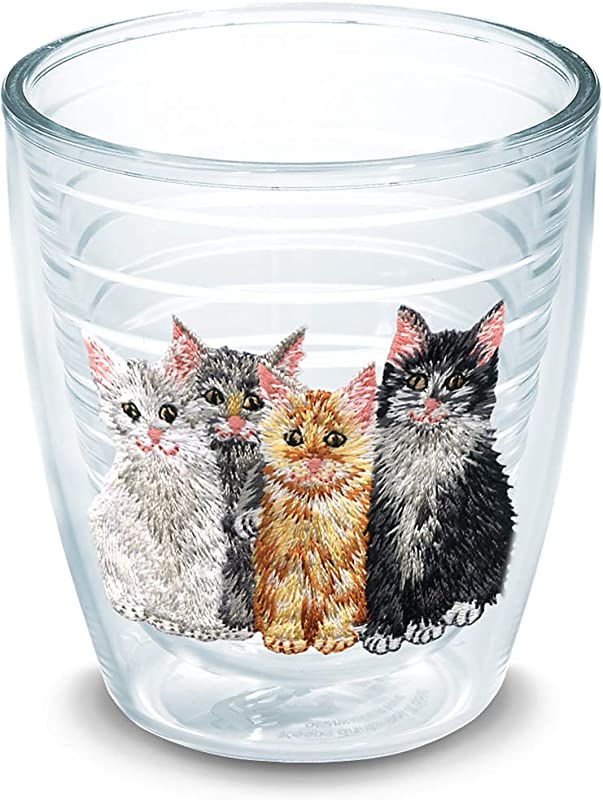Tervis 1039858 Kittens Insulated Tumbler With Emblem 12oz Clear