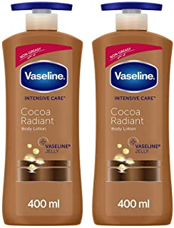 Vaseline Cocoa Radiant Body Lotion, 2 x 400 ml