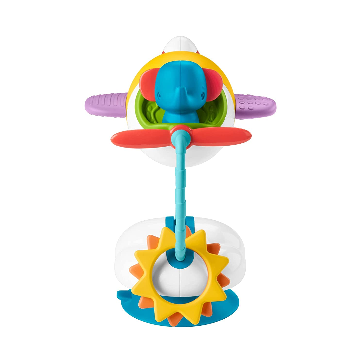 Fisher-Price Total Clean Activity Plane, Dishwasher-Safe High Chair Suction Cup Baby Toy