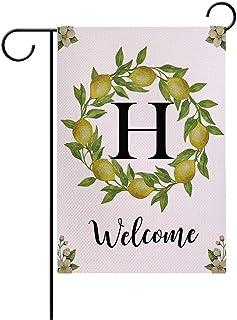7ColorRoom Welcome Garden أعلام مزدوجة الجوانب لحديقة الأعلام حرف/حرف/ليمونز إكليل مزرعة ساحة ديكور خارجي حديقة صغيرة العل...