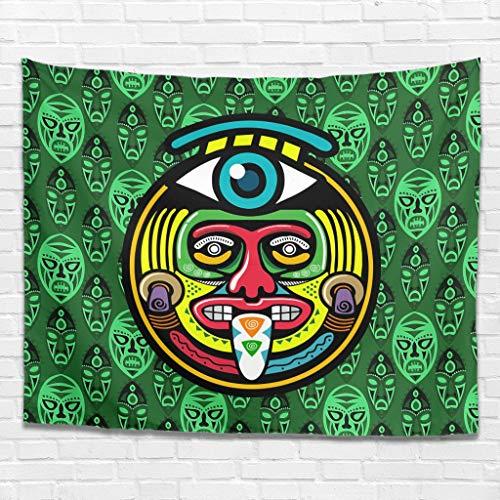 Xuanwuyi Egipto India Mayan Throw manta decoración de dormitorio interior fácil de colgar – Ligero adecuado para 4 estaciones blanco 91 x 59