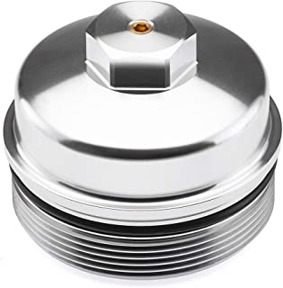 BlackPath - Fits Ford Diesel Fuel or Oil Cap Super Duty F-250 + F-350 + F-450 + F-550 + E-350 + E-450 + Excursion 6.0 & 6.4 Liter Power Stroke Diesel Filter Seal (Silver) T6 Billet