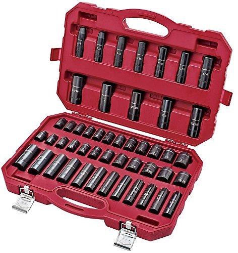 工匠48pc主激光器气动套筒配件设置有便携箱,驱动器的1/2,英制/公制