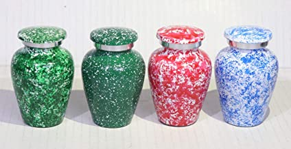 Cremation Urn | Small Urn | | Keepsake Urn | | Metal Urn| (Set of 4)