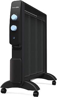 UNIVERSALBLUE - Radiador de Mica - Potencia 750W 1500W - Calefactor portátil - Termostato Ajustable - Calor Radiante y por convección