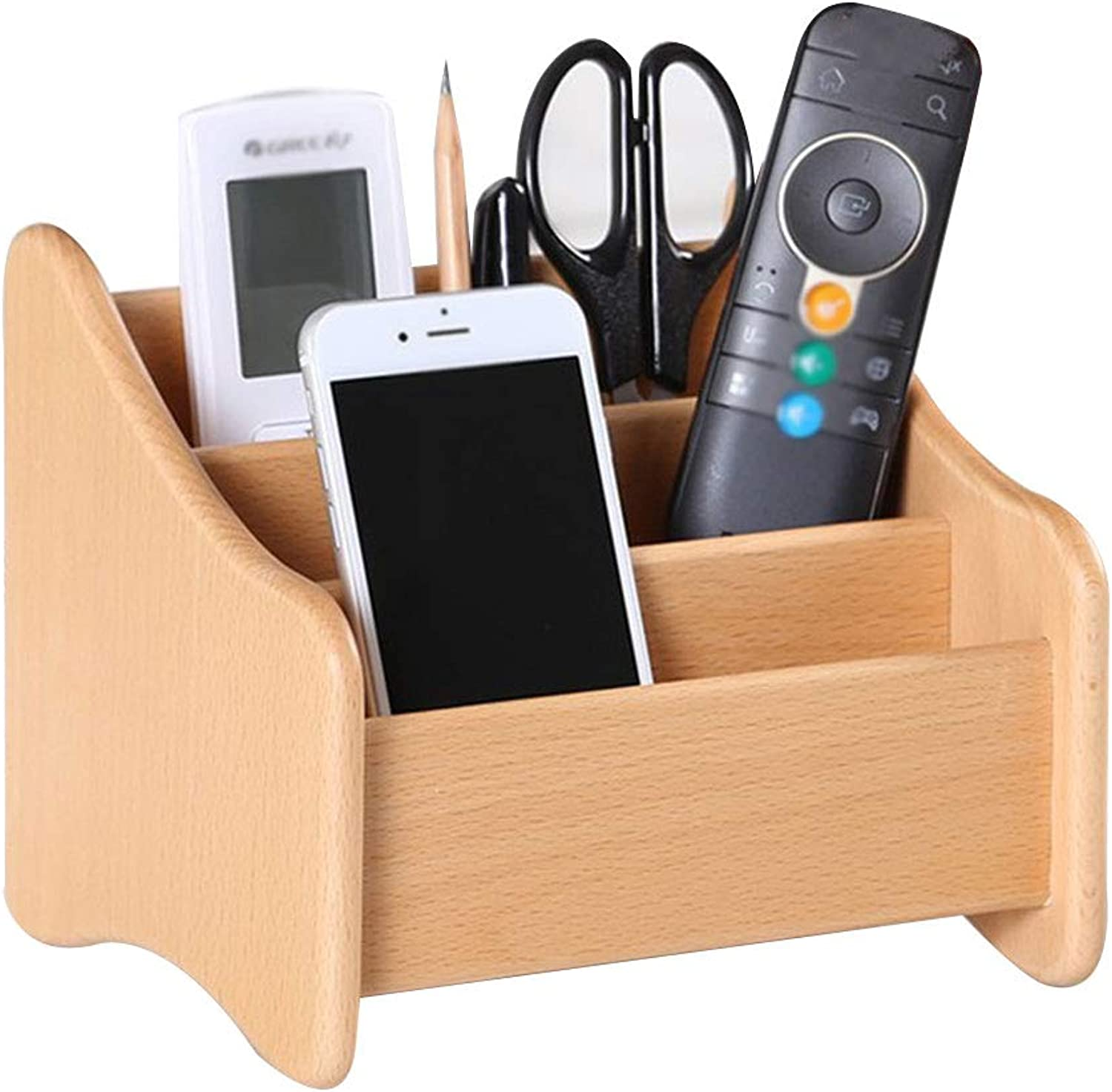 Wooden Shelf Storage,Solid Wooden Unit,Remote Control 2-3 Tier Small Compact Display Storage Rack for Offic Desk Shelf Organiser Pen,Phone Household Products (color   Natural)