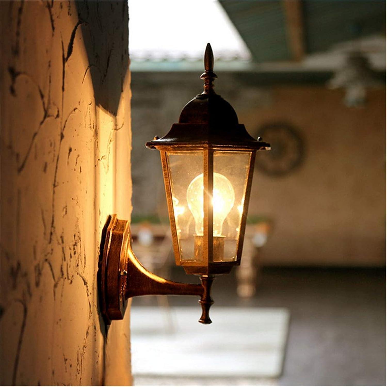 Lichtwandleuchte Wandleuchten Wohnzimmer Gang Schlafzimmer Nachttischlampe Treppenhaus Balkon Zimmer Outdoor American Einfache Outdoor Glaswandleuchten (200  360 Mm) [Energieklasse A ++]