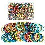 DesertBoy estirable Gomas Elásticas multicolores 38*1.5mm Bolsa de goma elásticas para organizar suministros de oficina(200g ,acerca 500 piezas )