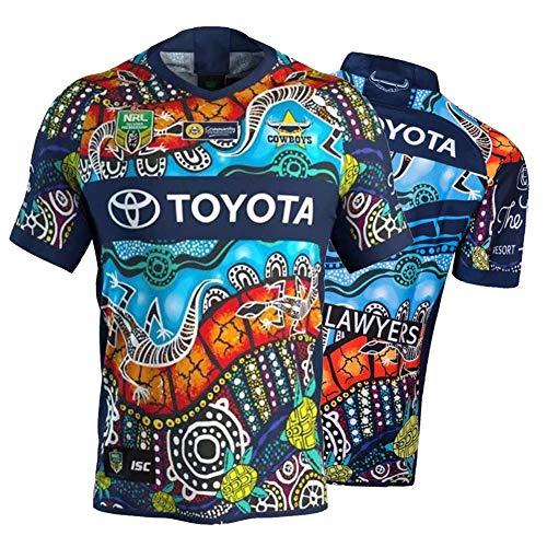 Herren Rugby Trikot, 2019-2020 Neuseeland Native Indigenous Rugby Polo Shirt Training T-Shirt, Unterstützer Fußball Sport Top, Bestes Geburtstagsgeschenk-Camouflage-XXXL