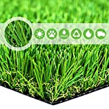 Household Decor Realistic Deluxe Artificial Grass Synthetic Thick Lawn Turf Carpet -Perfect for Indoor/Outdoor Landscape -28 in x 40 in (7.7 Square FT)