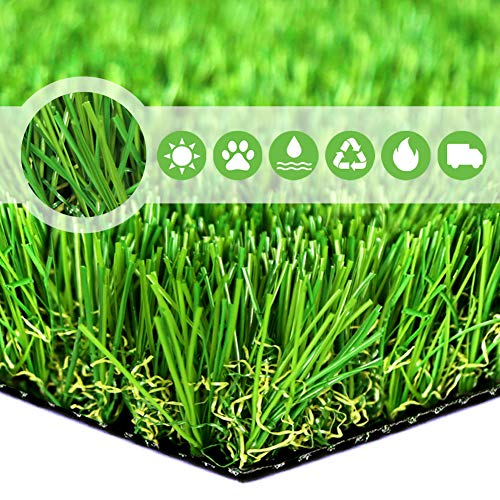 Realistic Deluxe Artificial Grass Synthetic Thick Lawn Turf Carpet --Perfect for indoor/outdoor Landscape (Sample Piece--2 Inch x 3 Inch)