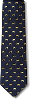 Men's 100% Silk Galloping Horses Equestrian Necktie Neck Tie Neckwear