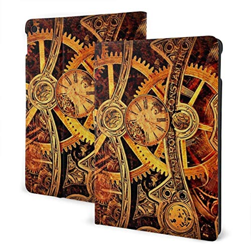 Animals Baby Goat Case for New Ipad 7th Generation 10.2 Inch 2019 Multi-Angle Viewing Folio Smart Stand Cover Auto Wake/Sleep for Ipad 10.2' Tablet-Cool Steampunk Gears-One Size