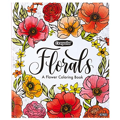 Crayola Flower Coloring Book, 40 Premium Adult Coloring Pages, Gift, Multi