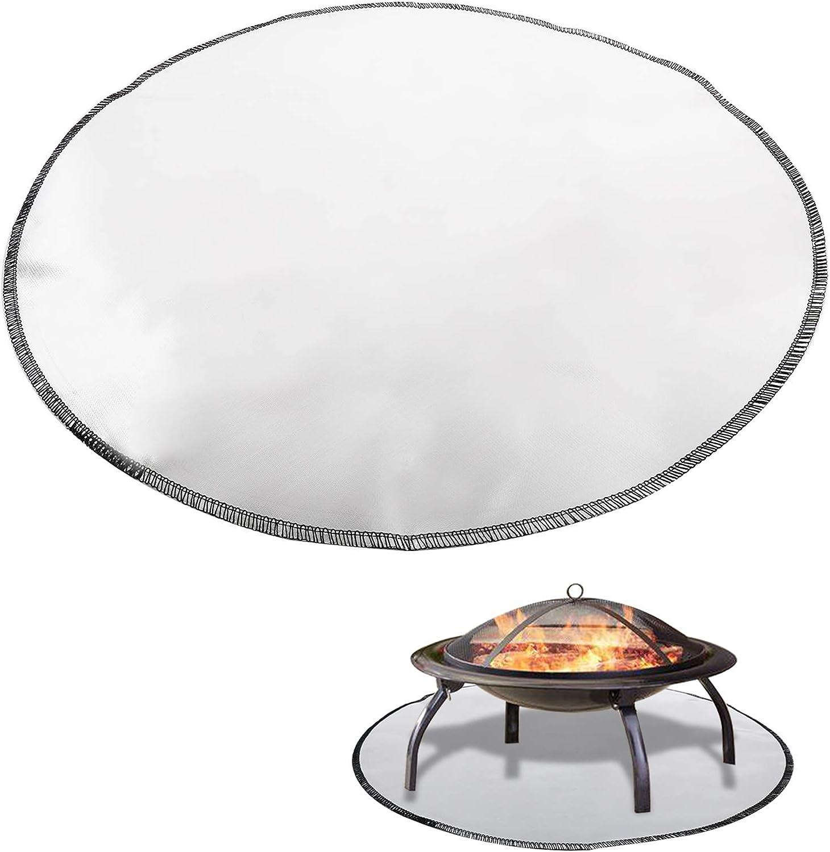 Finderomend 24 Inch Fire Pit Fireproof Protector Deluxe Patio Regular discount Deck Mat