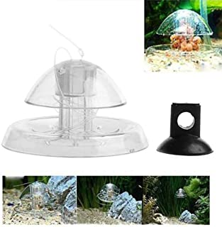 POPETPOP Snail Trap for Fish Tank,Aquarium Fish Plant Tank Plastic Clear Snail Trap Aquarium Fish Tank Plants Planarian Leech Catcher(Size L)