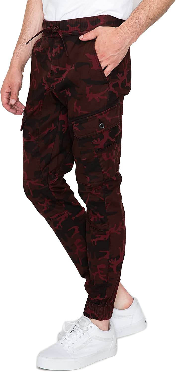 RING OF FIRE Men's Twill Stretch Casual Joggers