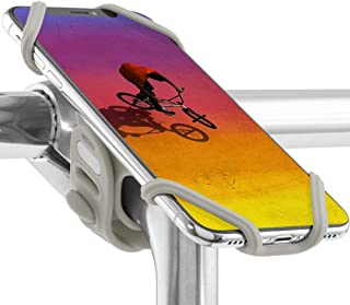 Universal Bike Phone Mount (Upgraded Ver.) Bicycle Stem Handlebar Cell Phone Holder for iPhone Xs Max XR X 8 7 Plus Samsung Galaxy S10 S9 S8 Note 9 Pixel 3 Smartphone, Bike Tie Pro 2 Series (Gray)