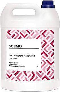 Amazon Brand - Solimo Germ-Protect Handwash Liquid, Refreshing Rose, 5L