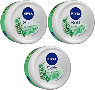 Nivea Soft Light Moisturizer, Chilled Mint, 200 ml (Pack of 3)