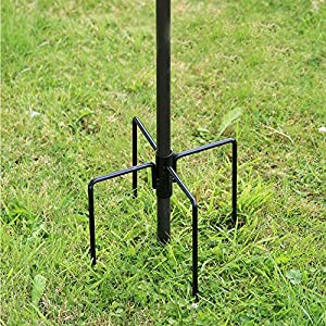 Denny International Wild Bird Feeding Station Stabiliser For Garden Outdoor Feeding Feeder Feet Ground Spikes Stand in Black Color