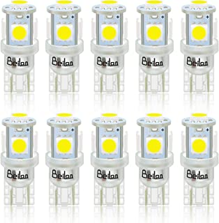 BeiLan 10PCS T10 LED Ampoules de Voiture, Lampe W5W 194 168 501 2825 6000K 5050 Chipset,..