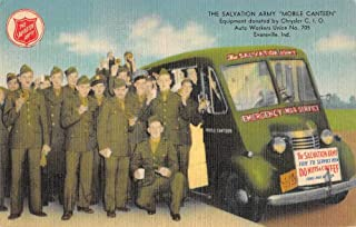 Evansville Indiana Salvation Army Mobile Canteen Vintage Postcard JF685085