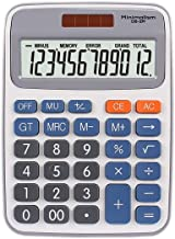 $33 » 12-Digit Solar Cell Office Calculator with Large LCD Display, Large Sensitive Buttons, Dual-Power Desktop Calculator (Colo...
