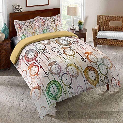 Bedclothes-Blanket Juego de sabanas Cama 150,Cama 3D Single Ropa de Cama Edredón Set Reloj de Tres piezas-228 * 228_19