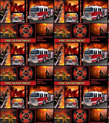 FIRE DEPARTMENT COTTON FABRIC-FIREMAN COTTON FABRIC-FIRE FIGHTER FABRIC-100% COTTON