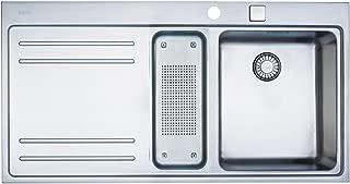 Franke Mythos MTX 251 1270175836 - Fregadero de acero inoxidable, montaje a ras, seno a la derecha, con agujero para grifo