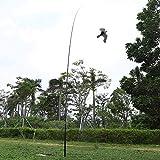 Zerone Cometa Repelente de Aves voladoras, Cometa Repelente de Aves Extensible Repelente de Aves Protección de Cultivos Espantapájaros Scarer Hawks con pértiga telescópica de 6 m