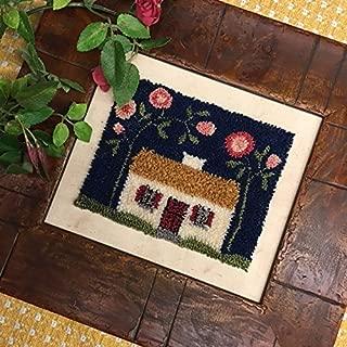 Punch Needle Embroidery WILD ROSE IRISH COTTAGE
